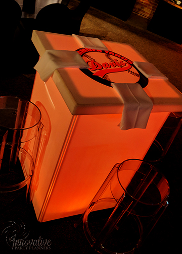 Bar Mitzvah Camden Yards_2-16-19_Orange Glow Table with logo Decal by IPP.jpg