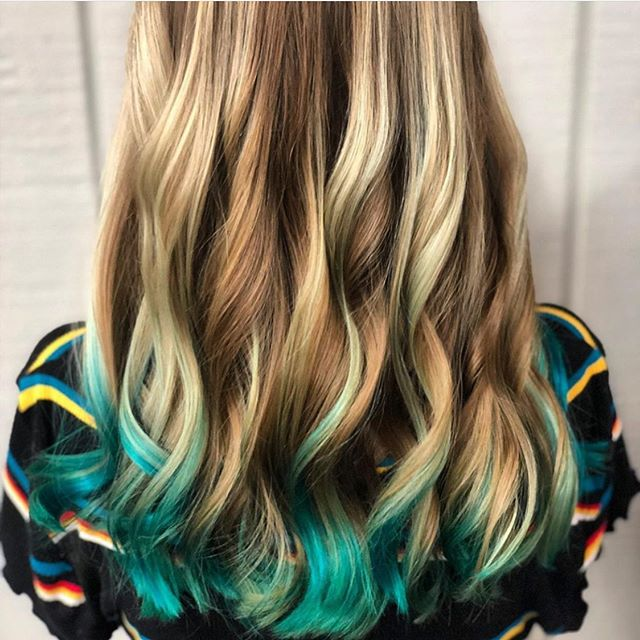 Fun with color for summer🥏Hair by Christy McKee