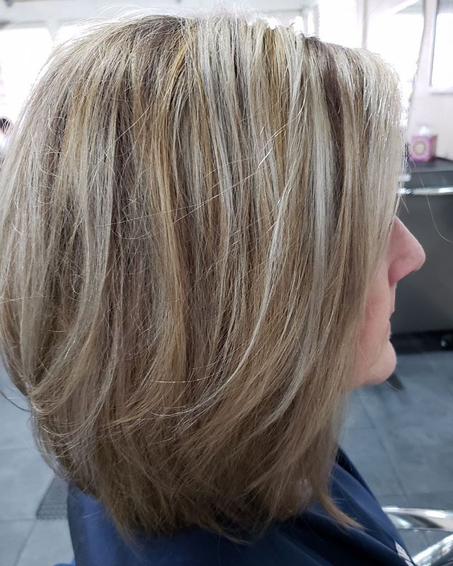Gorgeous combo of ashy blonde with a warm weave👌Hair by Debi Towle