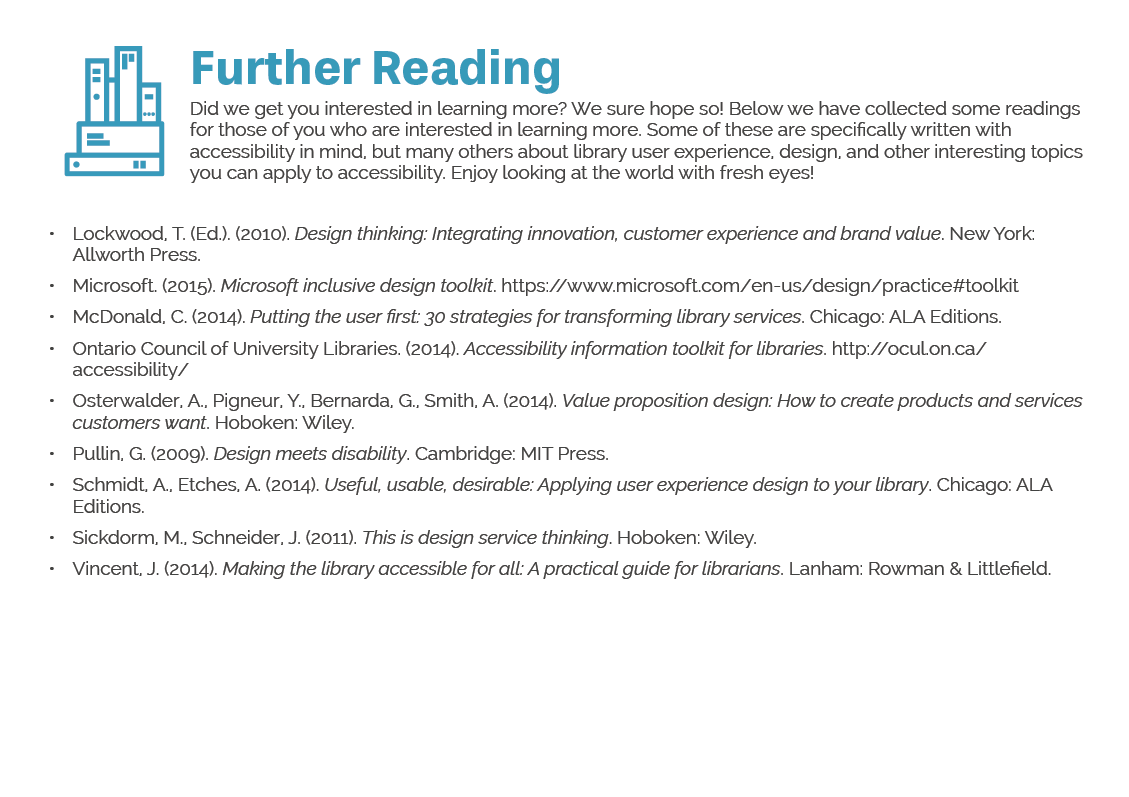 Further reading notes page