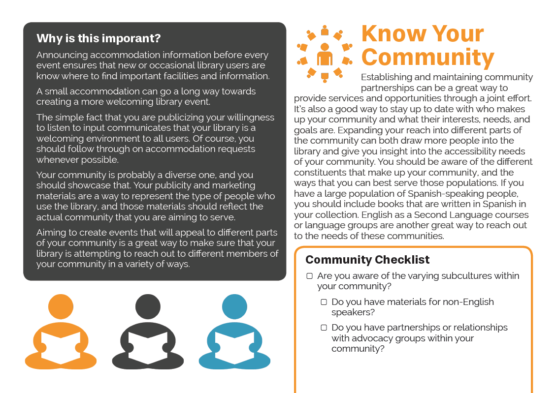 Importance of program accessibility, knowing your community