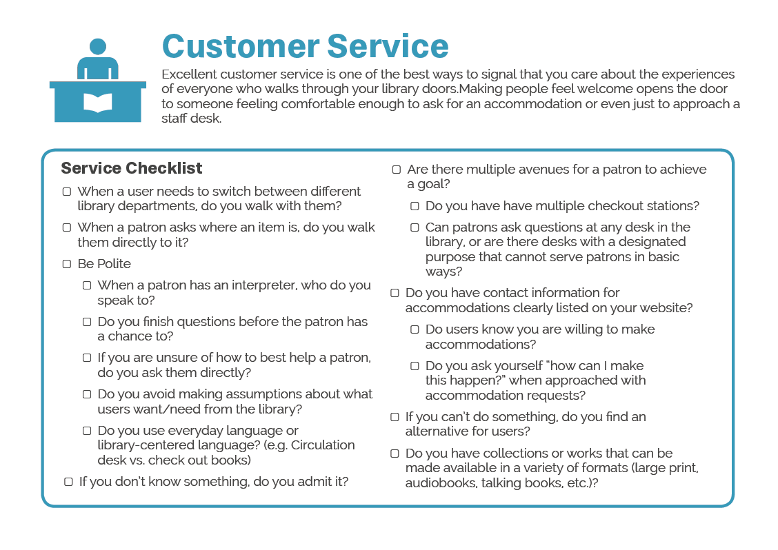 Customer service accessibility