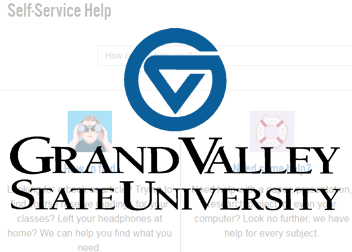 Grand Valley State University Logo overlay on the knowledge base page