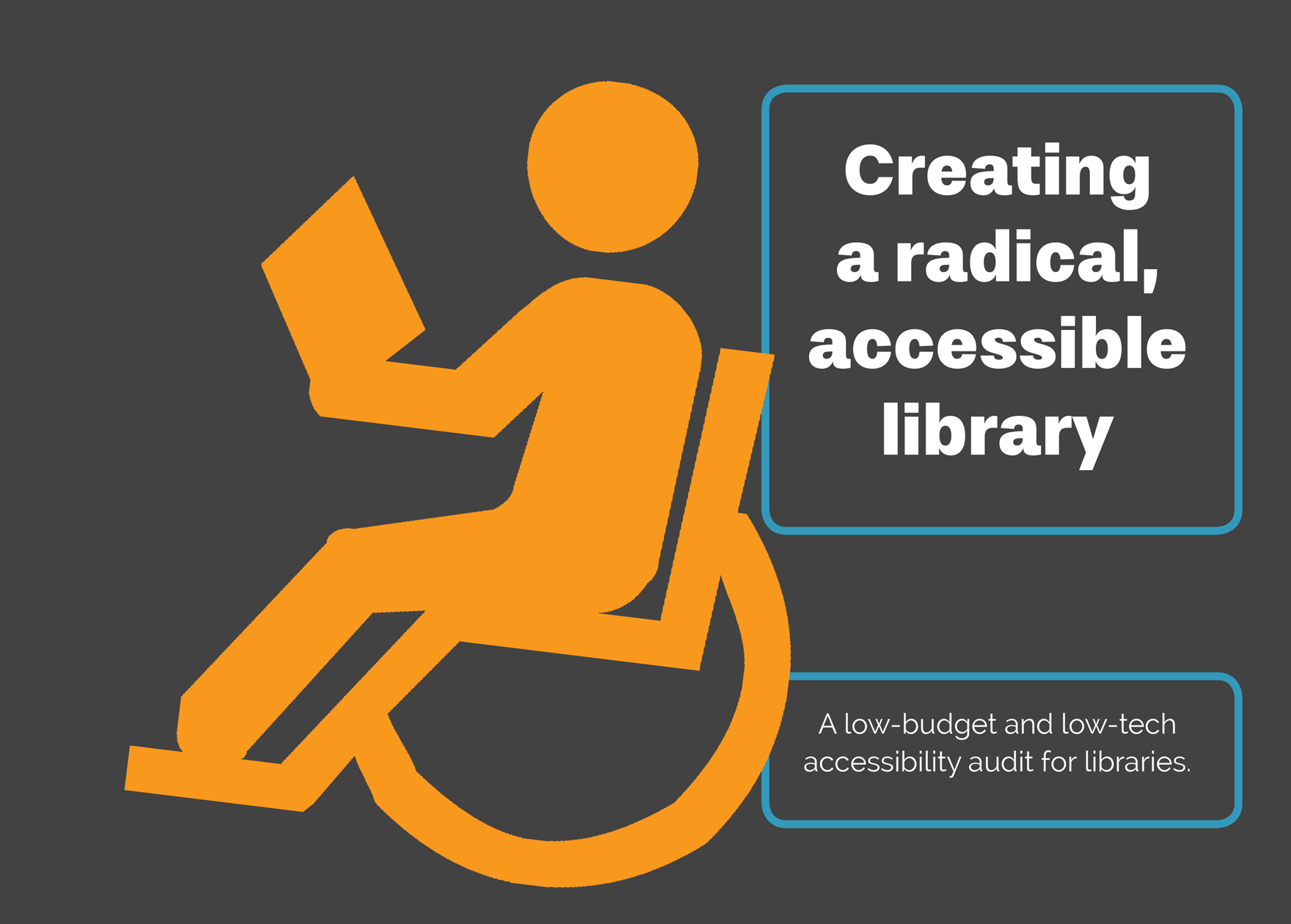 Creating a radical, accessible library brochure project