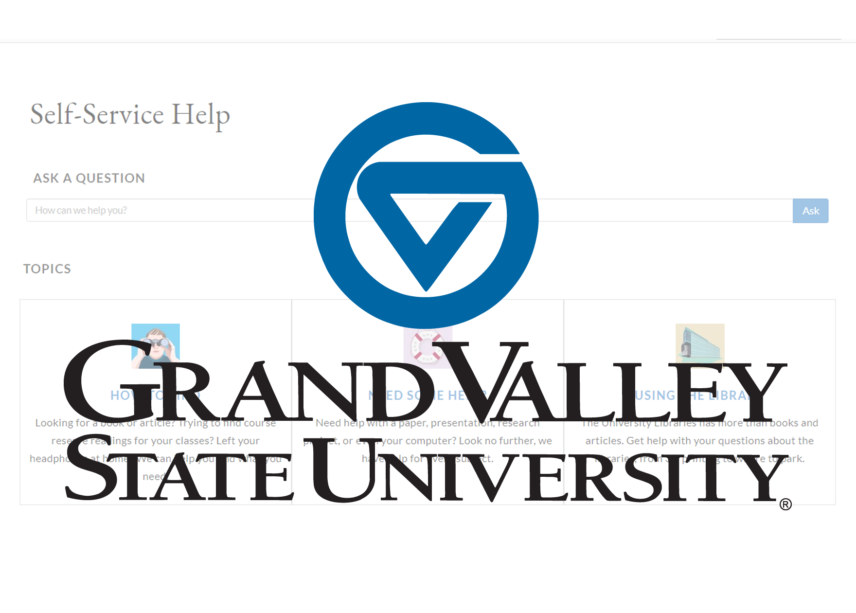 Grand Valley State University knowledge base project