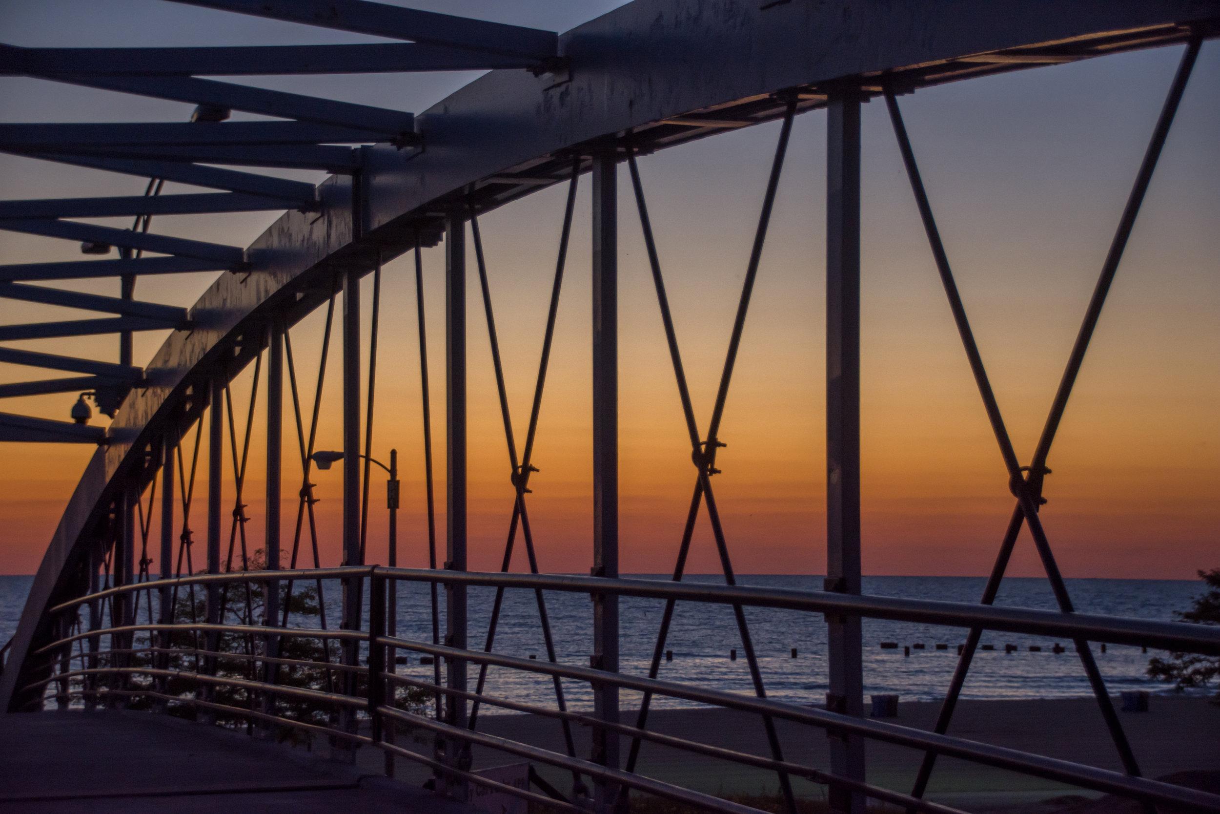 Barbara Calabrese  Bridge, Sunrise   Lincoln Park/Lakefront