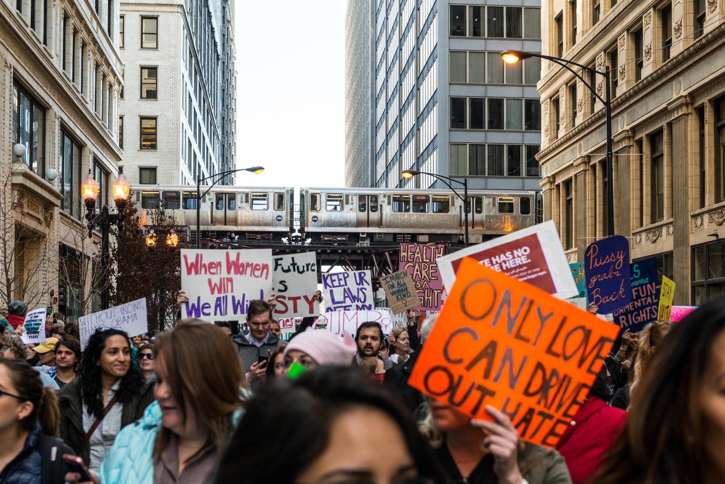 Wendy Love  Chicago Women's March