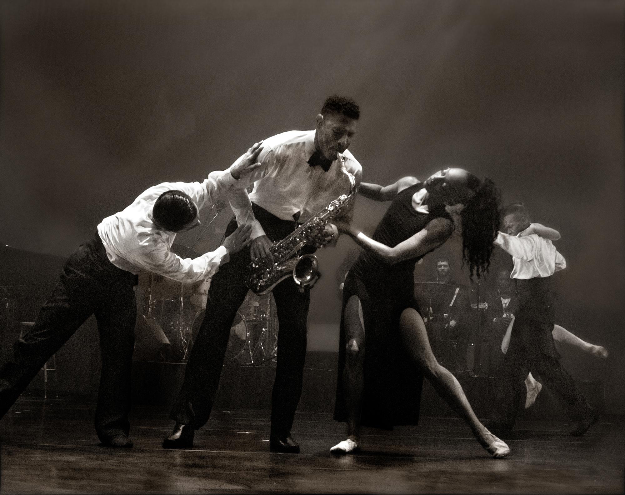 Adeline Sides  Saxophonist With Dancers