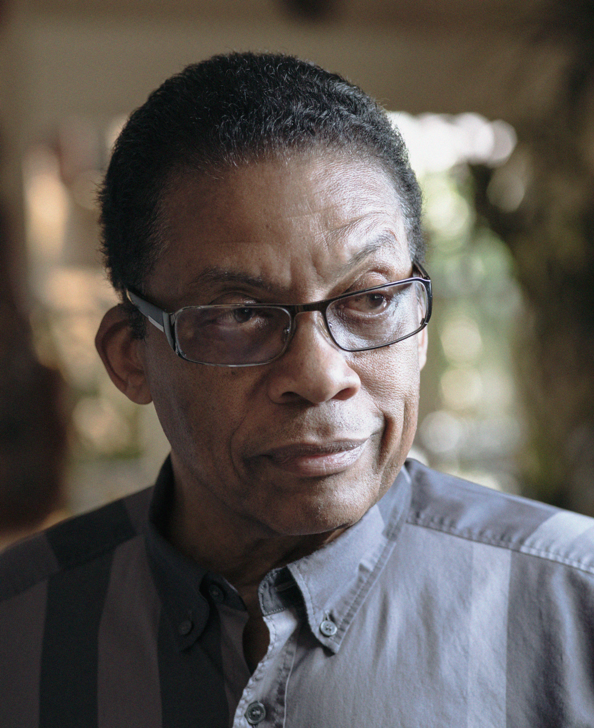 HERBIE HANCOCK  at his home in Los Angeles