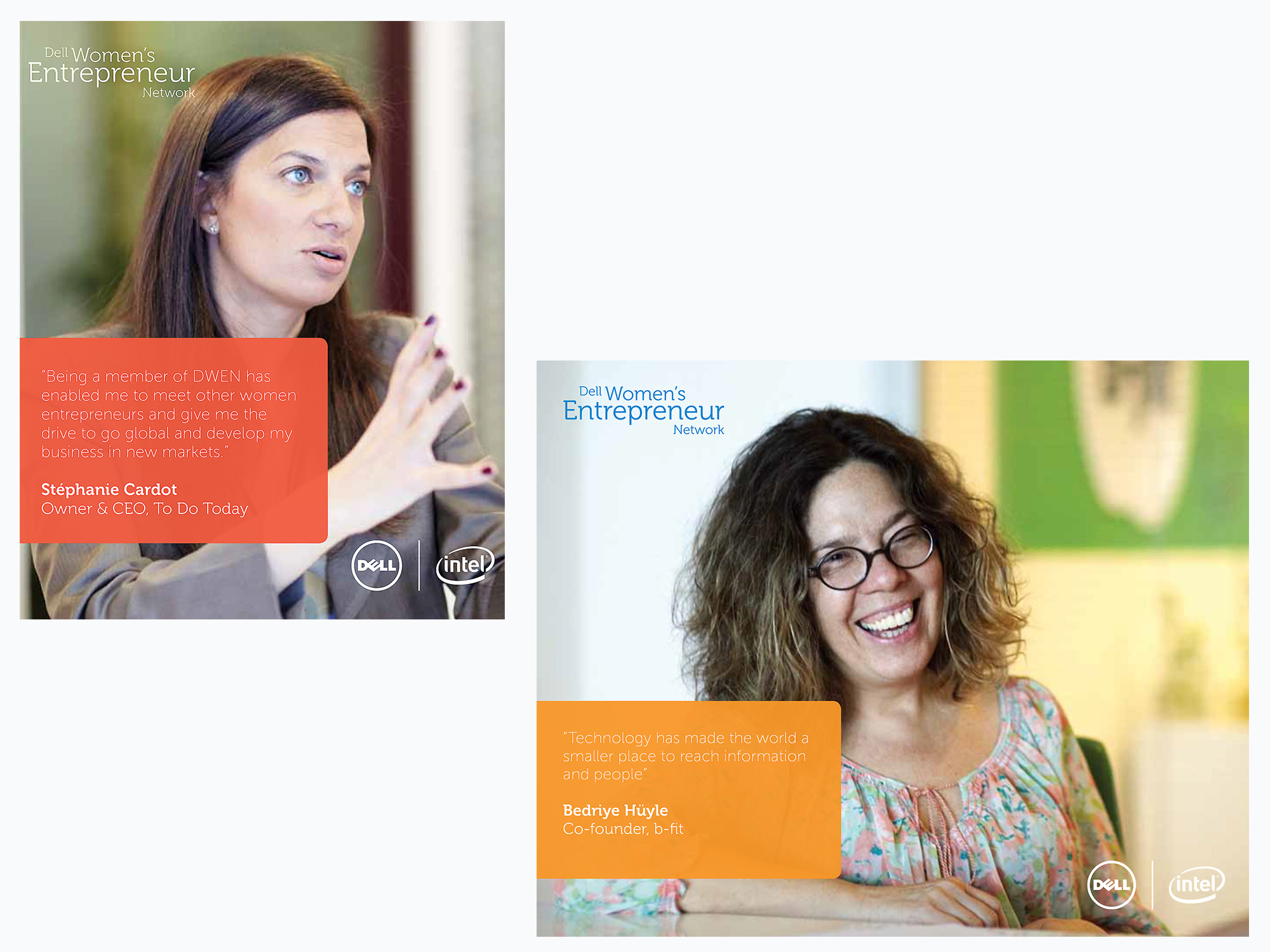 Female entrepreneurs and Dell brand ambassadors shot in Paris and Istanbul