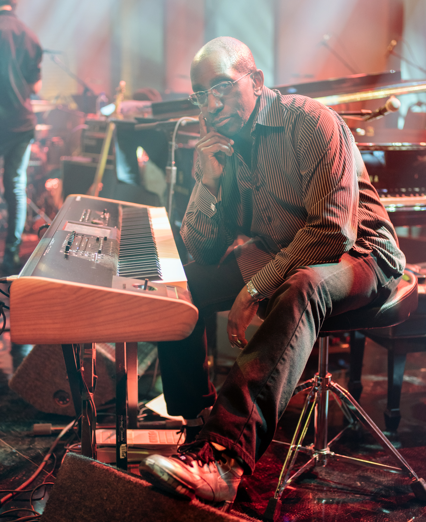 GREG PHILLINGANES  at CBS Studios, Los Angeles