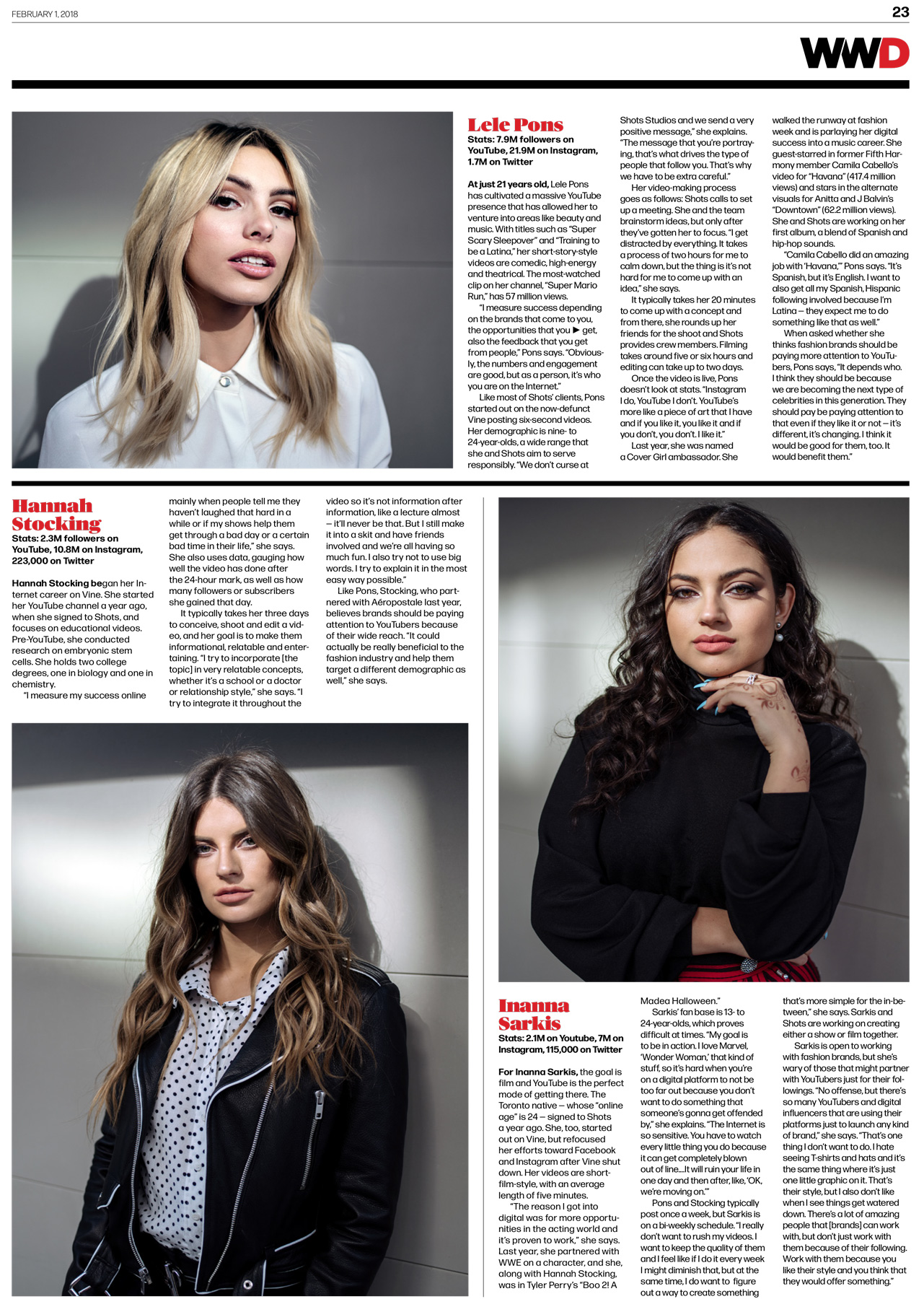 Social Media Stars  WWD Magazine