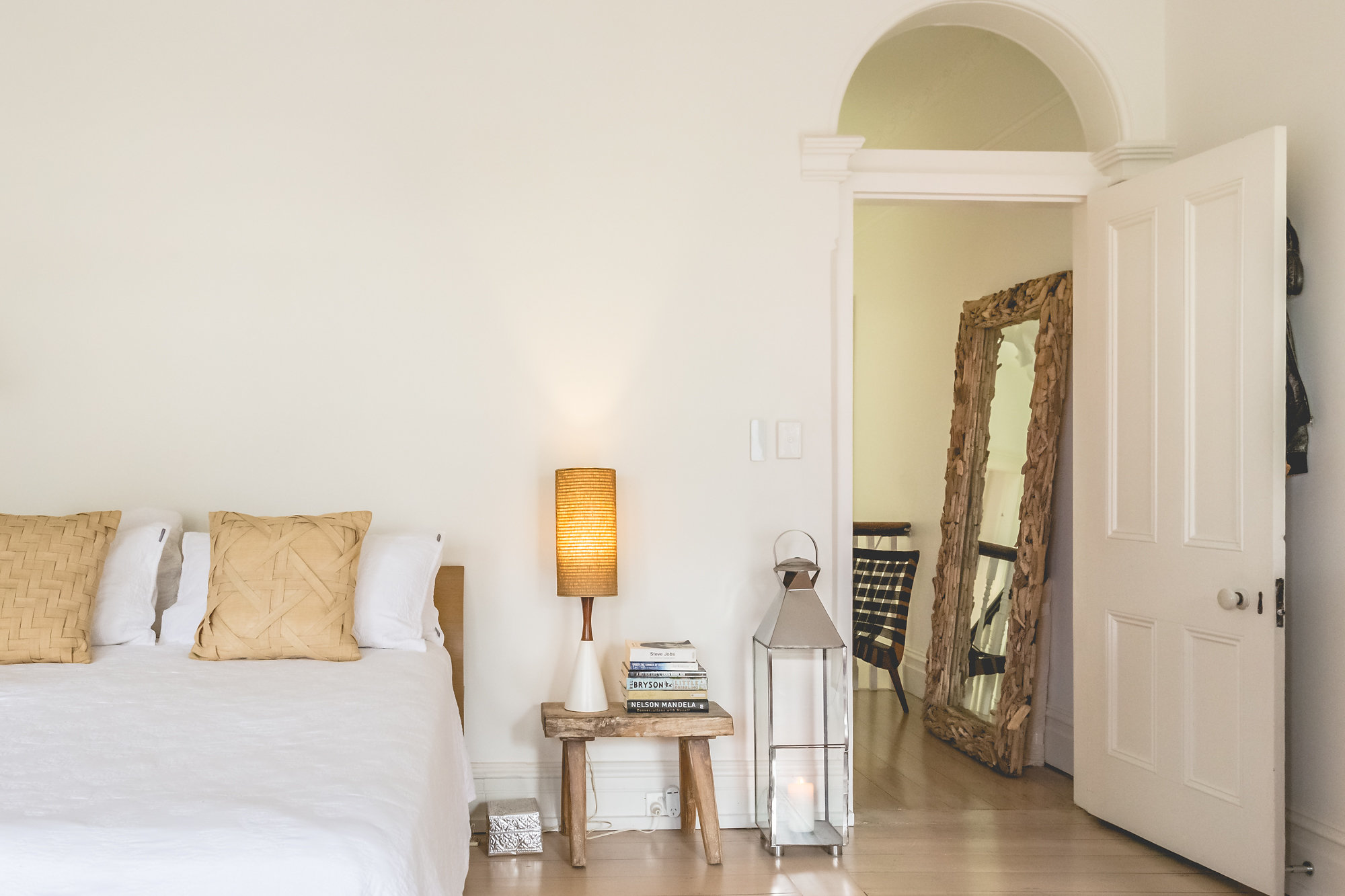 When home feels like holidays. The master bedroom is so tranquil and beautiful. Pass me a book!