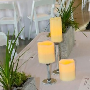 Industrial Candle Holders (qty: 11)