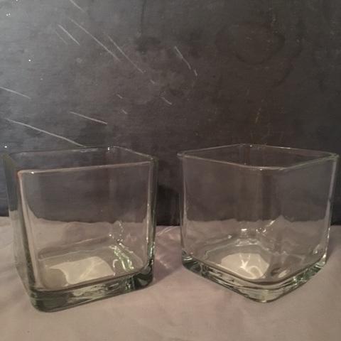 Square Vases Short (qty: 15)