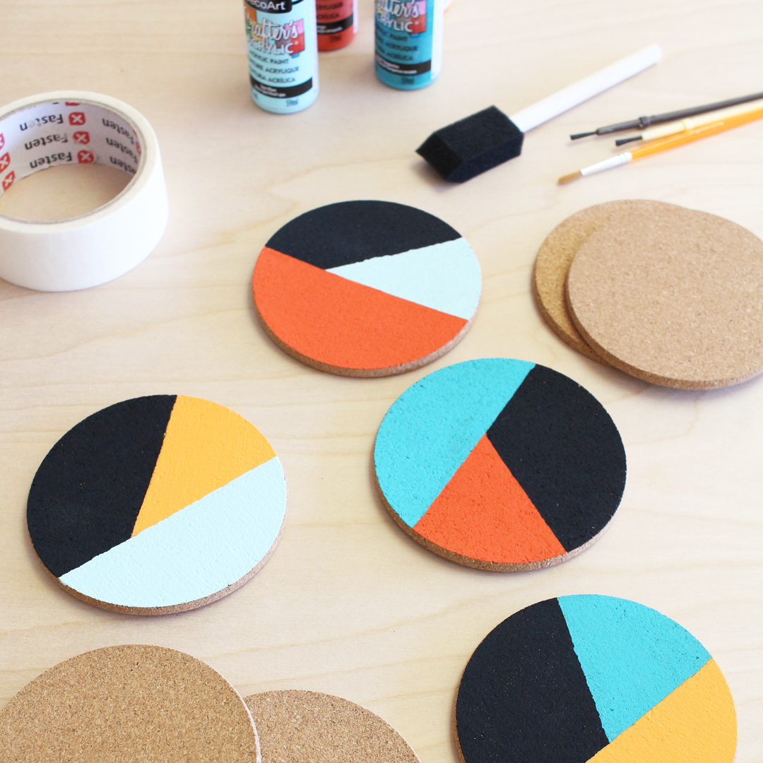 Painted coaster DIY craft project
