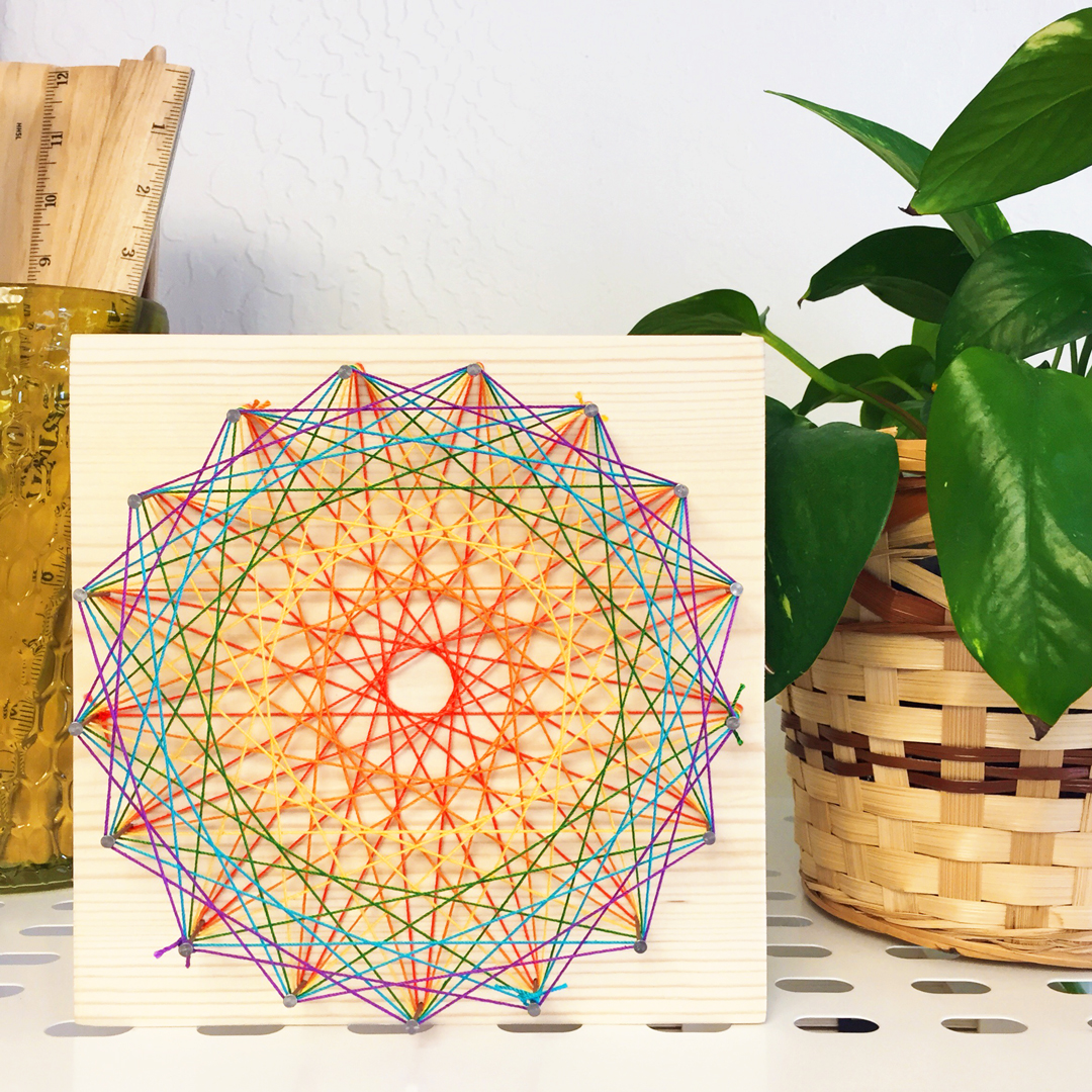 String art DIY craft project