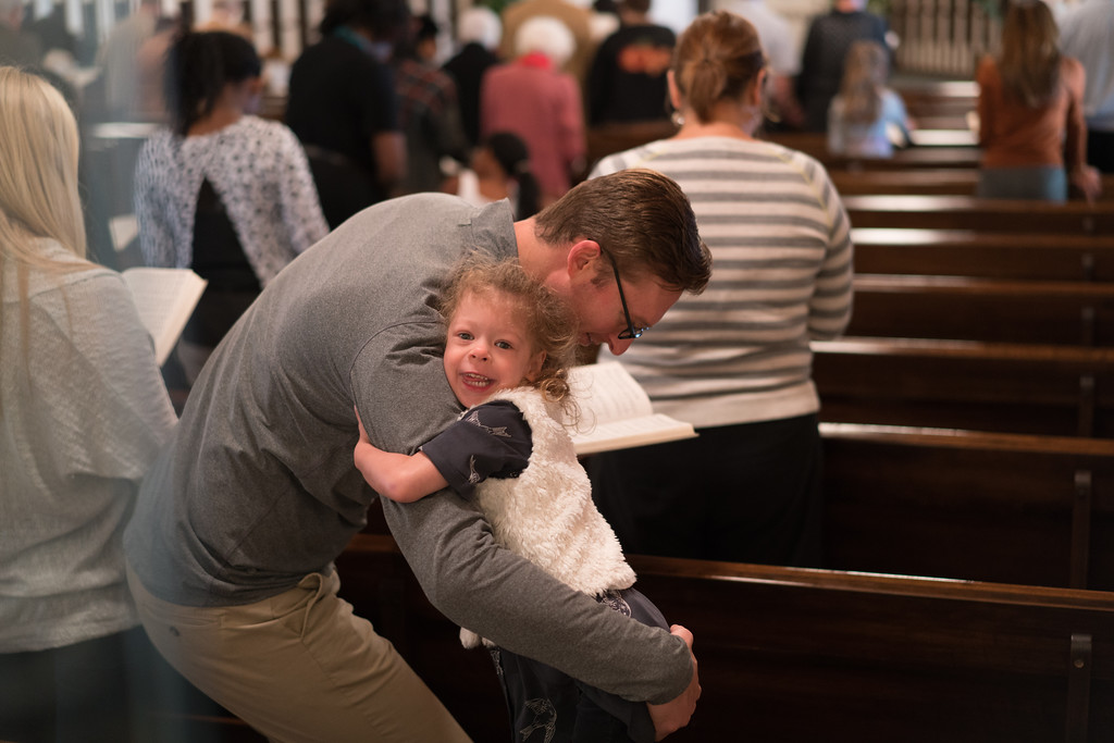 We gather together each Sunday for communion, worship and Sunday School