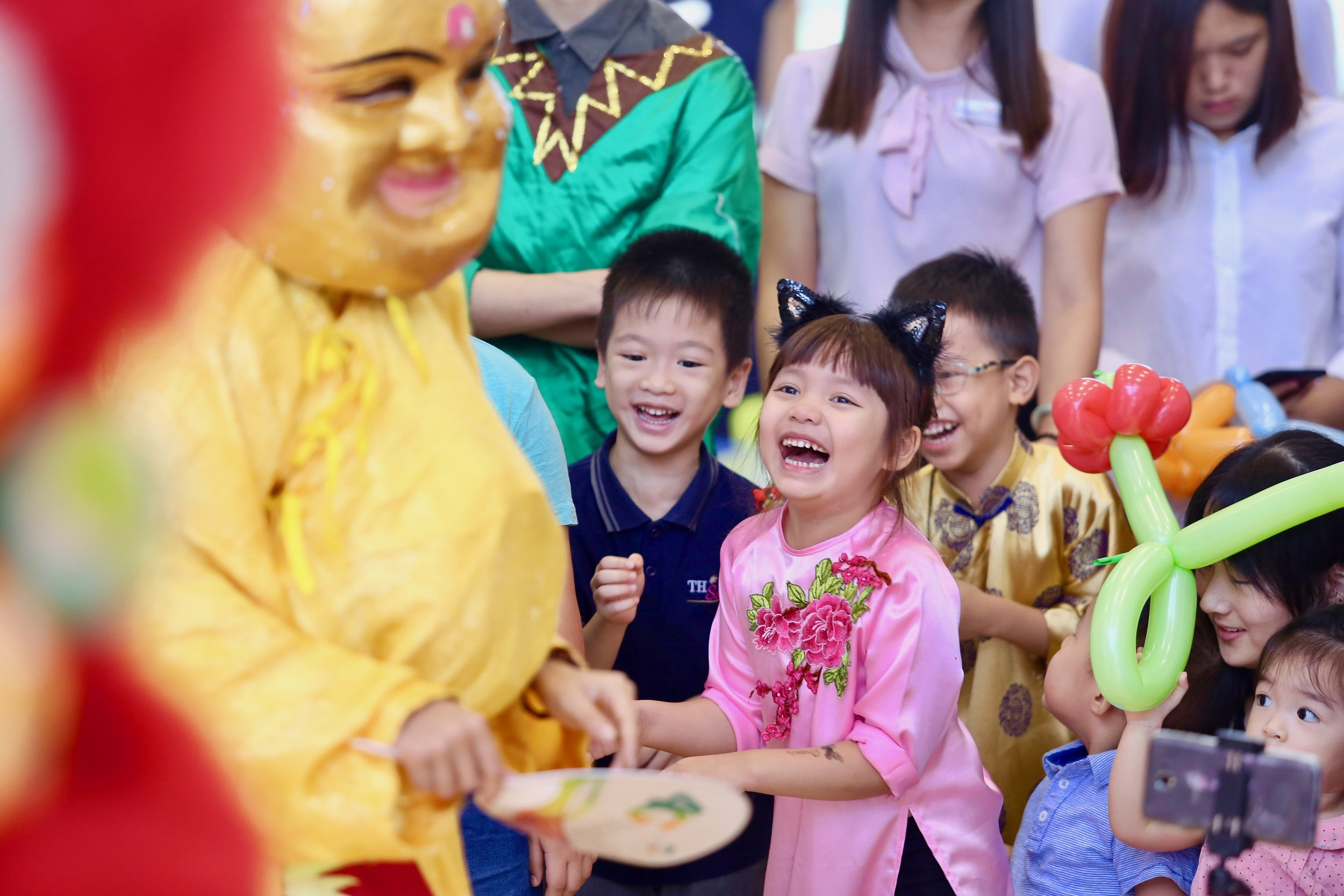 Students enjoy the festivities