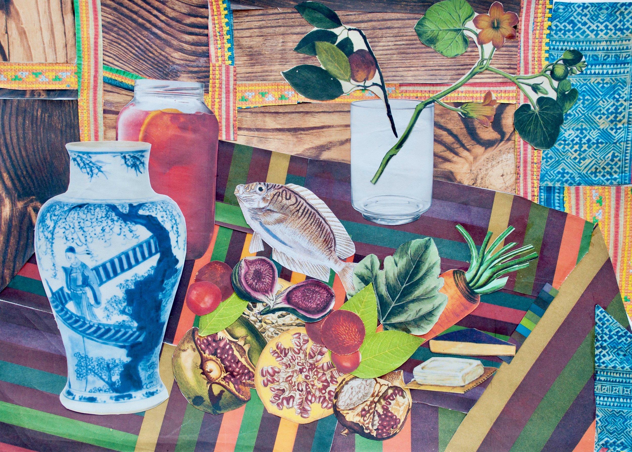Dương - Still Life after Henri Matisse's Still Life (Pineapples, Lemons).jpg