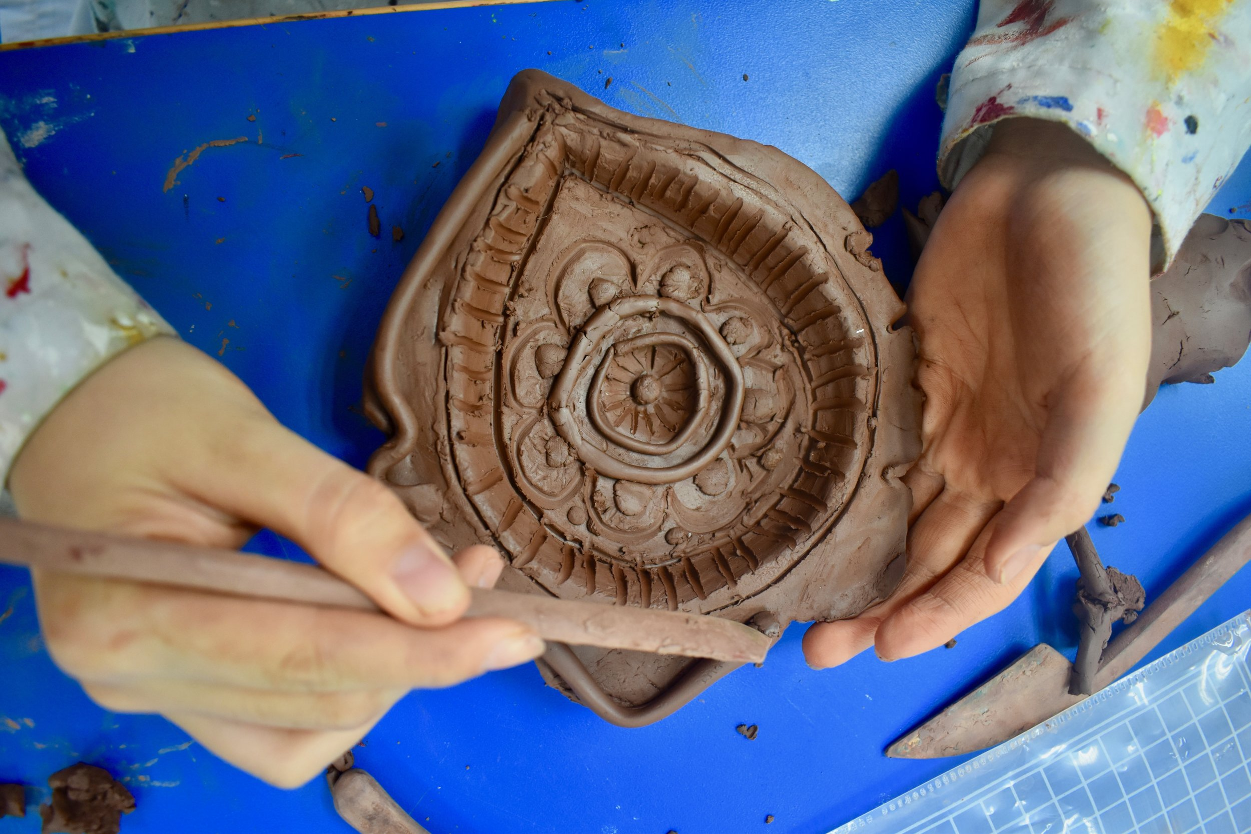 Diya ceramic sculpting.jpg