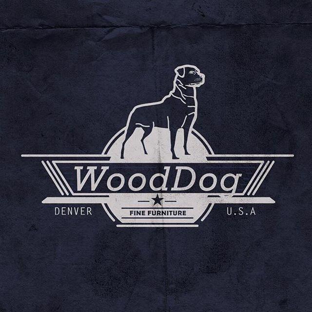 Logo design work for furniture brand Wood Dog. An @amwitmer brain child. #logo #design #illustration