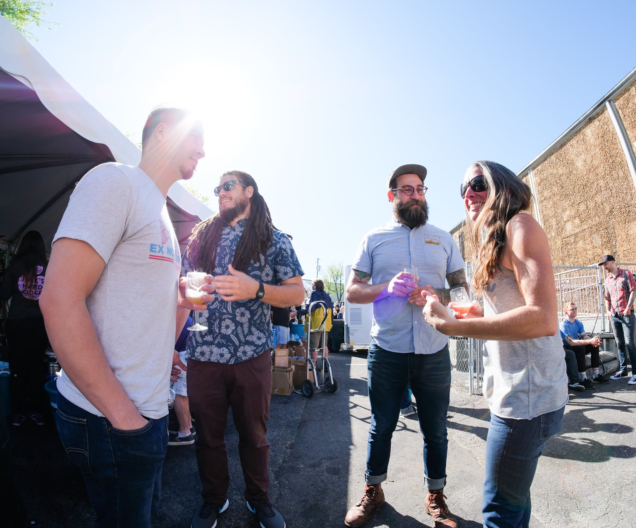 Friends at Yazoo Brewing's Embrace the Funk