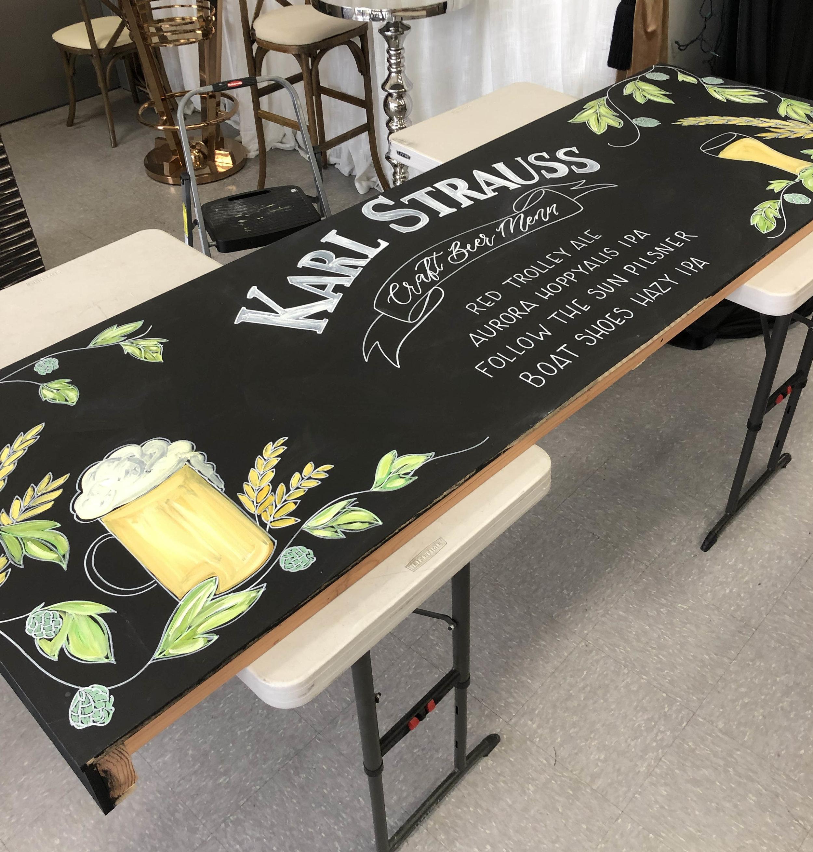 Karl Strauss Chalkboard Menu