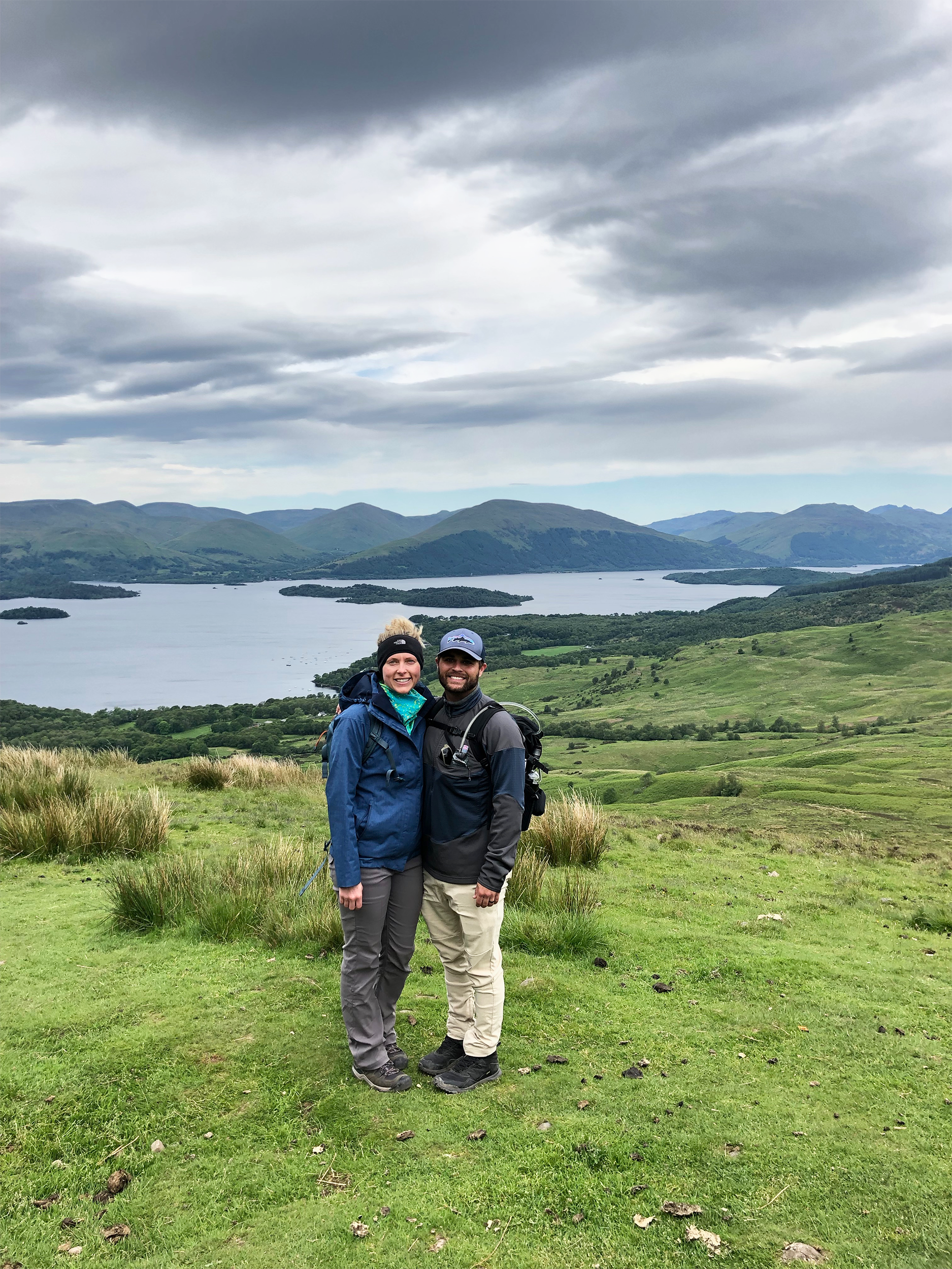 On this day we had one of our biggest elevation gains. We climbed to the top of Conic Hill and the views of Loch Lomond were stunning!