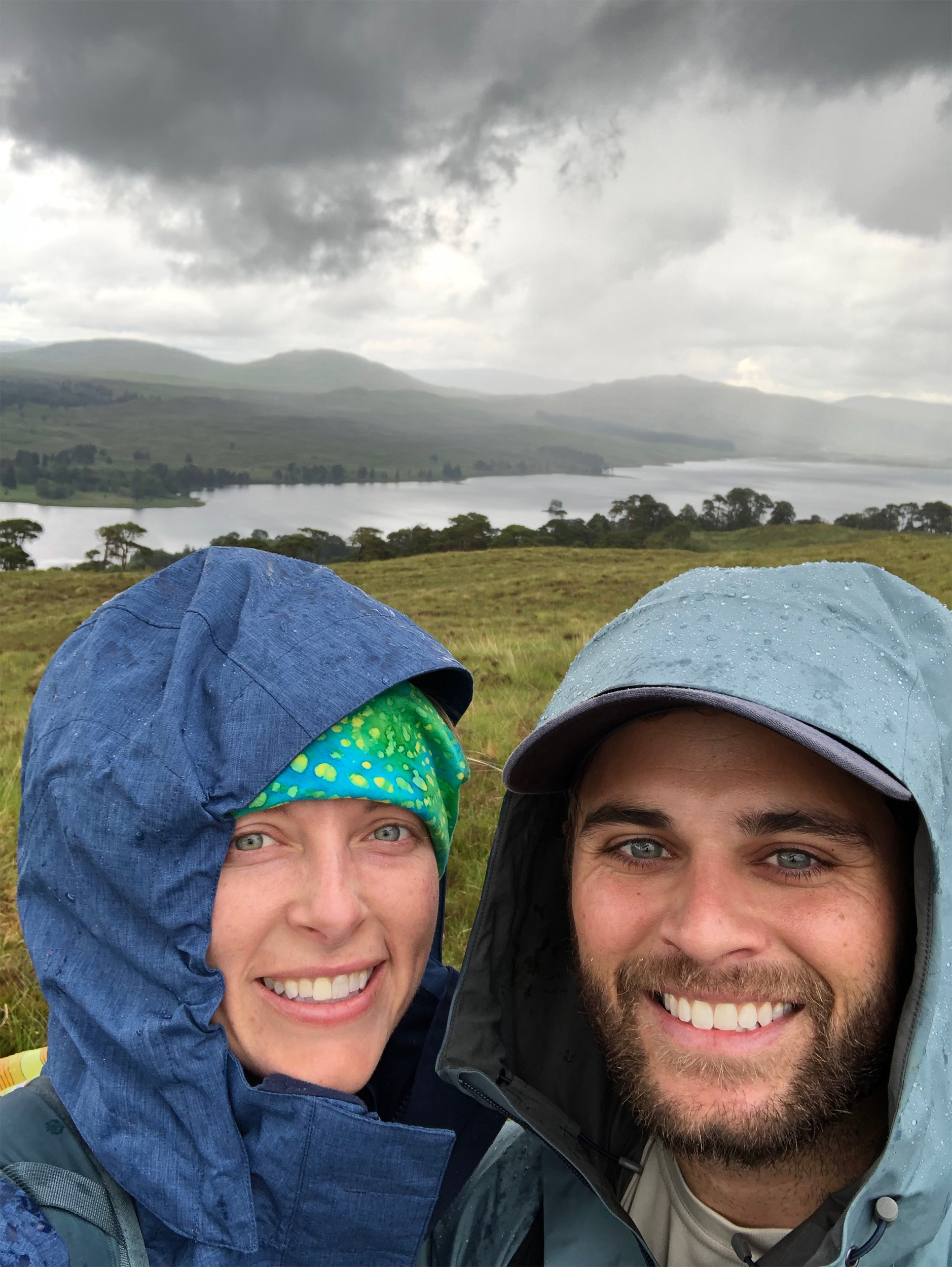 We had our 2 year anniversary on this day. It was one of the most challenging and secluded sections of the Journey. We went through Rannoch Moor which is the wildest and most uninhabited section of the West Highland Way.