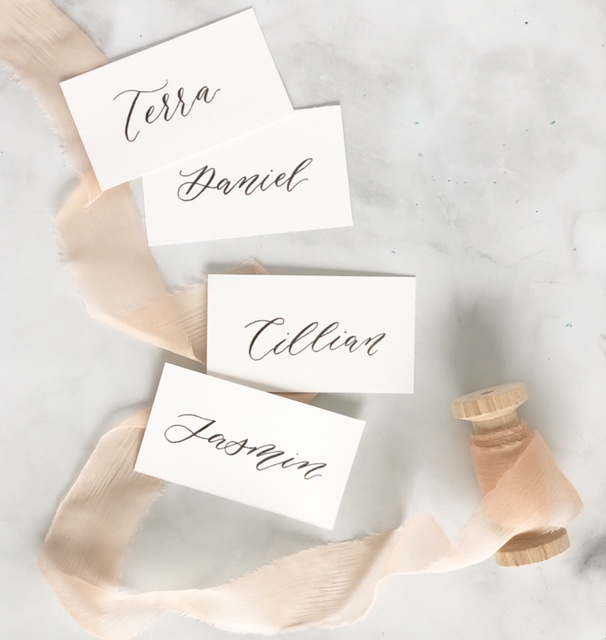 simple elegant place cards with calligraphy.JPG