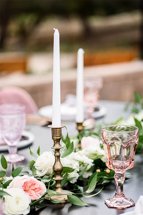 Wedding table with candles