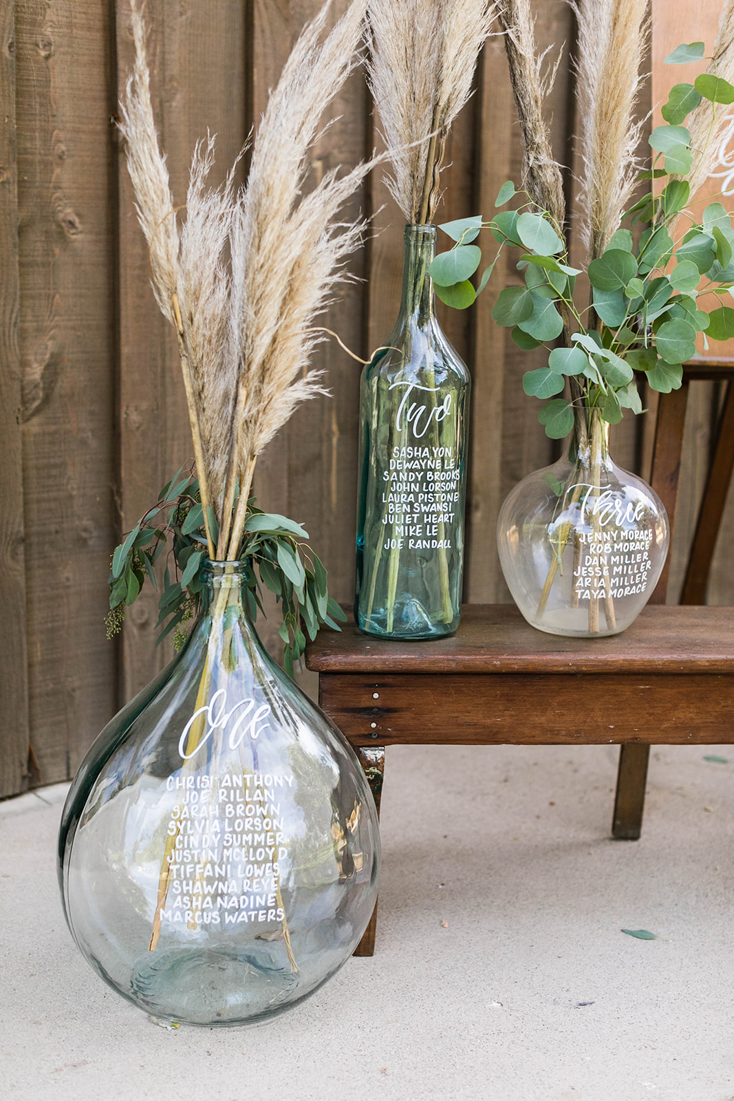 Large vases are rentals from  madam palooza