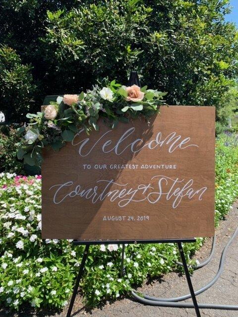 san diego calligrapher wedding signage