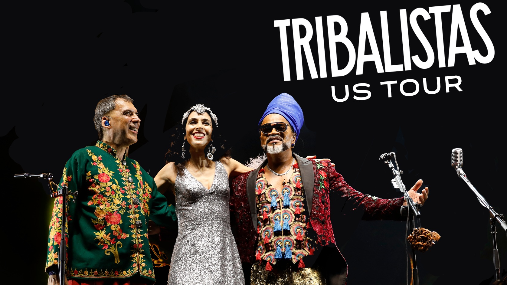 Brazilian supergroup Tribalistas with Arnaldo Antunes, Marisa Monte and Carlinhos Brown (2019)