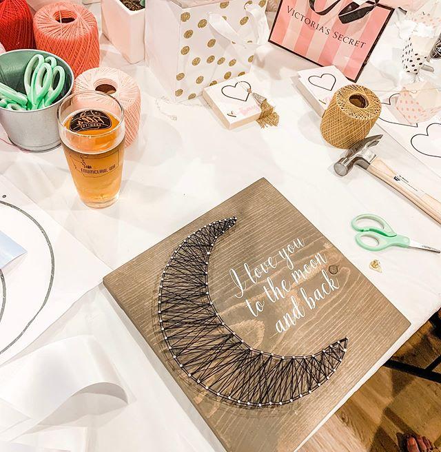 #stringart #craftclasses #bachelorettepartycrafts #moonandback  #craftygirls  #wanderenumclaw