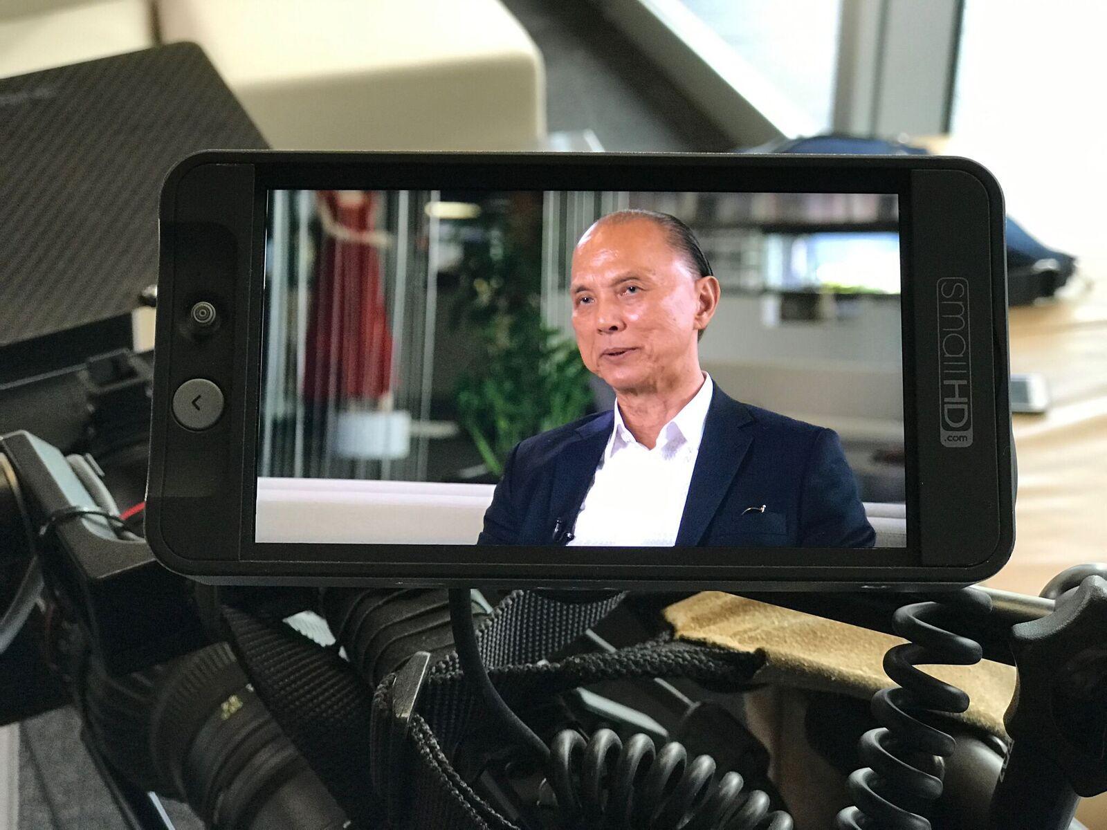 Jimmy Choo visit, freelance tour cameraman, Brisbane.