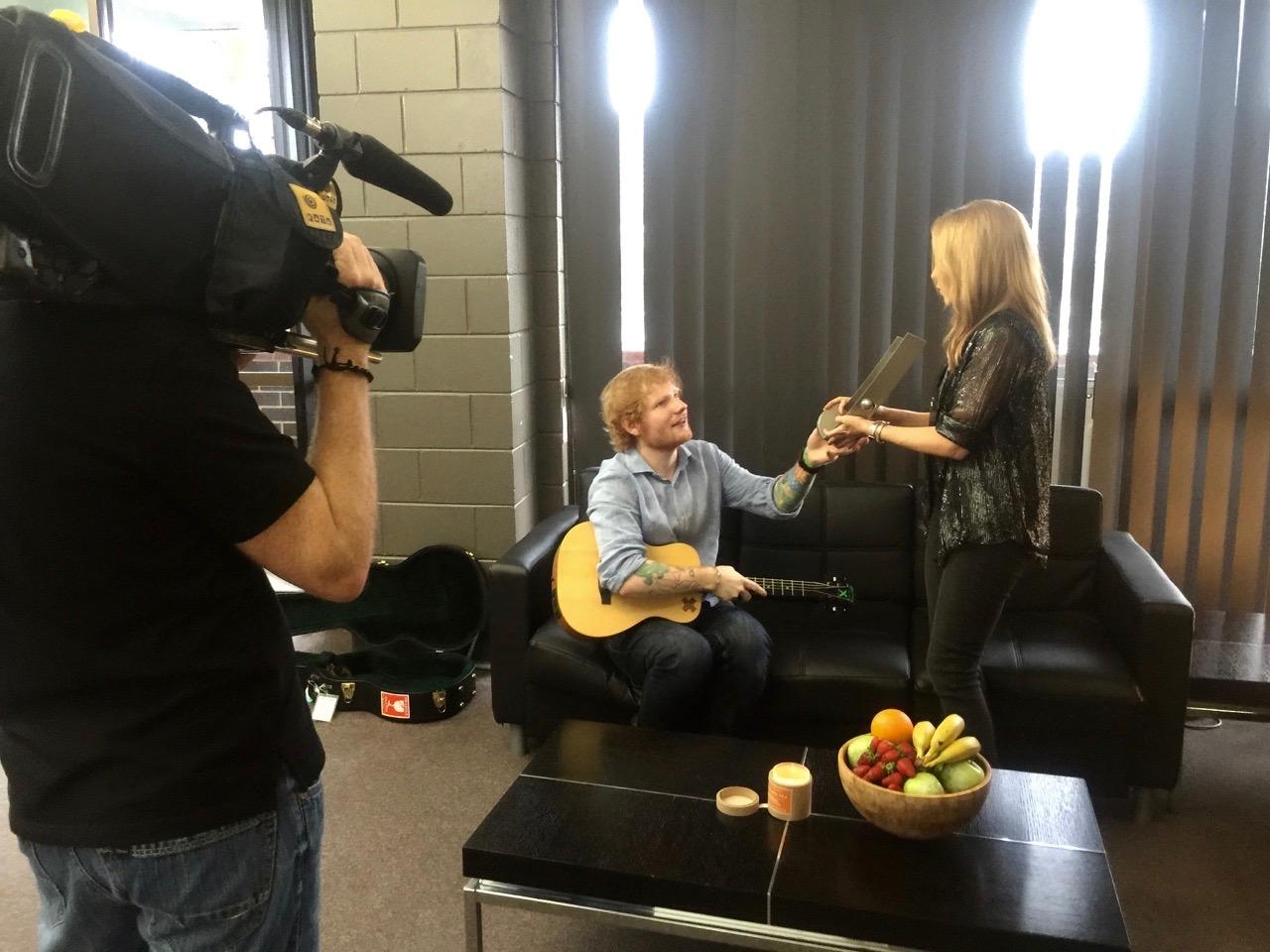 Ed Sheeran and Kylie Minogue shoot