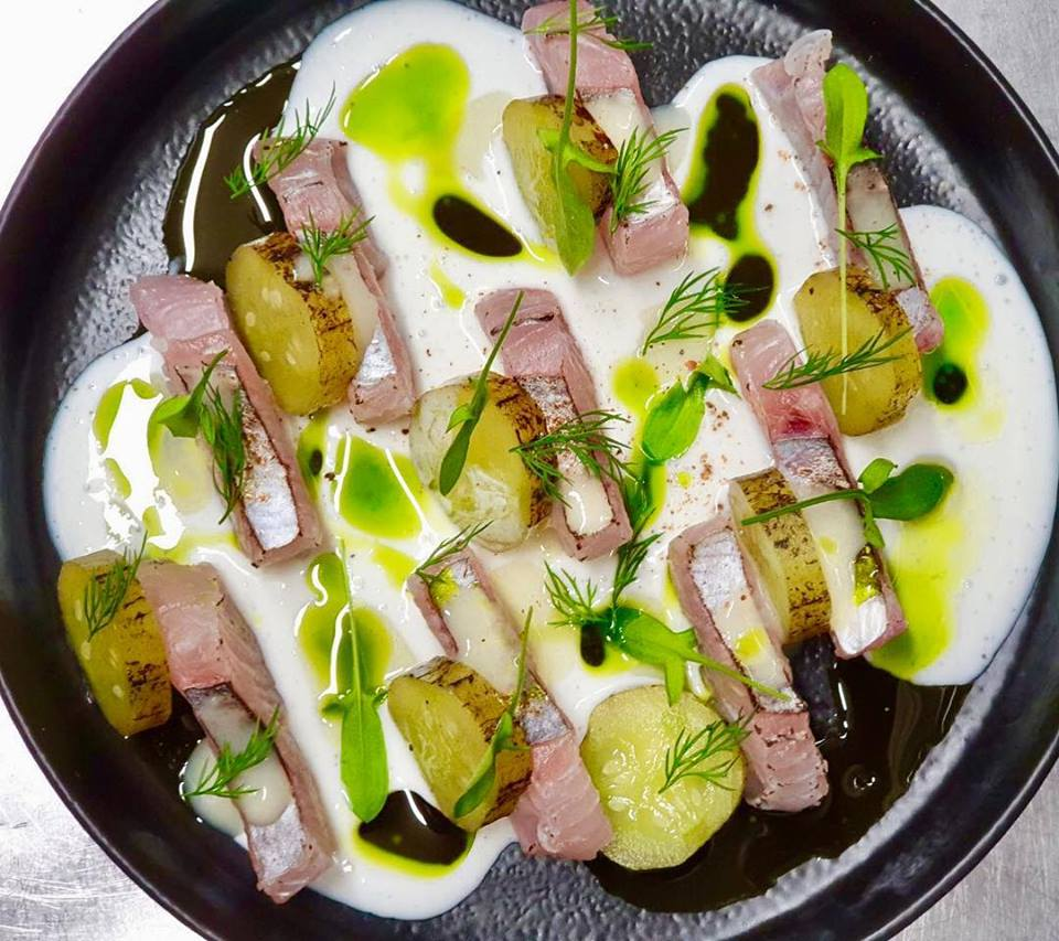 Mackerel and pickled cucumbers