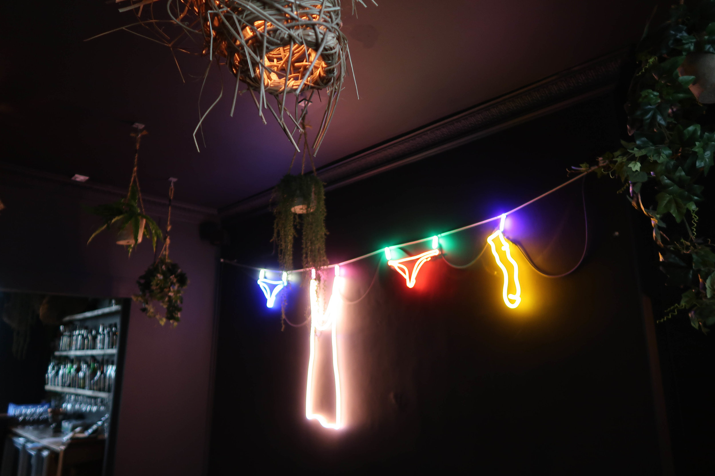 Because every bar should have a neon washing line