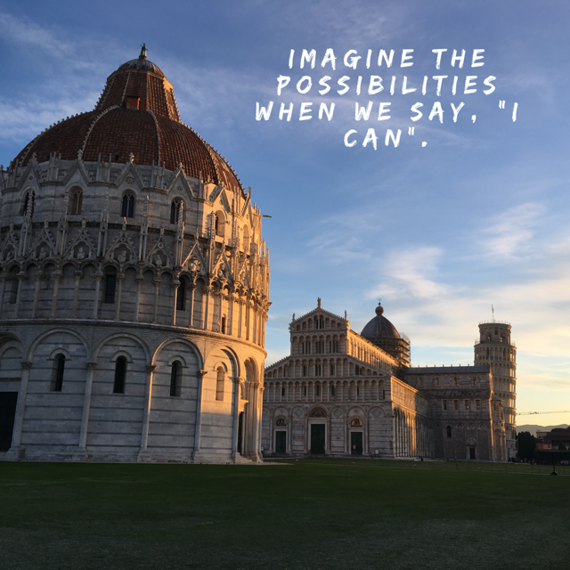 The view this morning prior to my half marathon in Pisa, Italy.