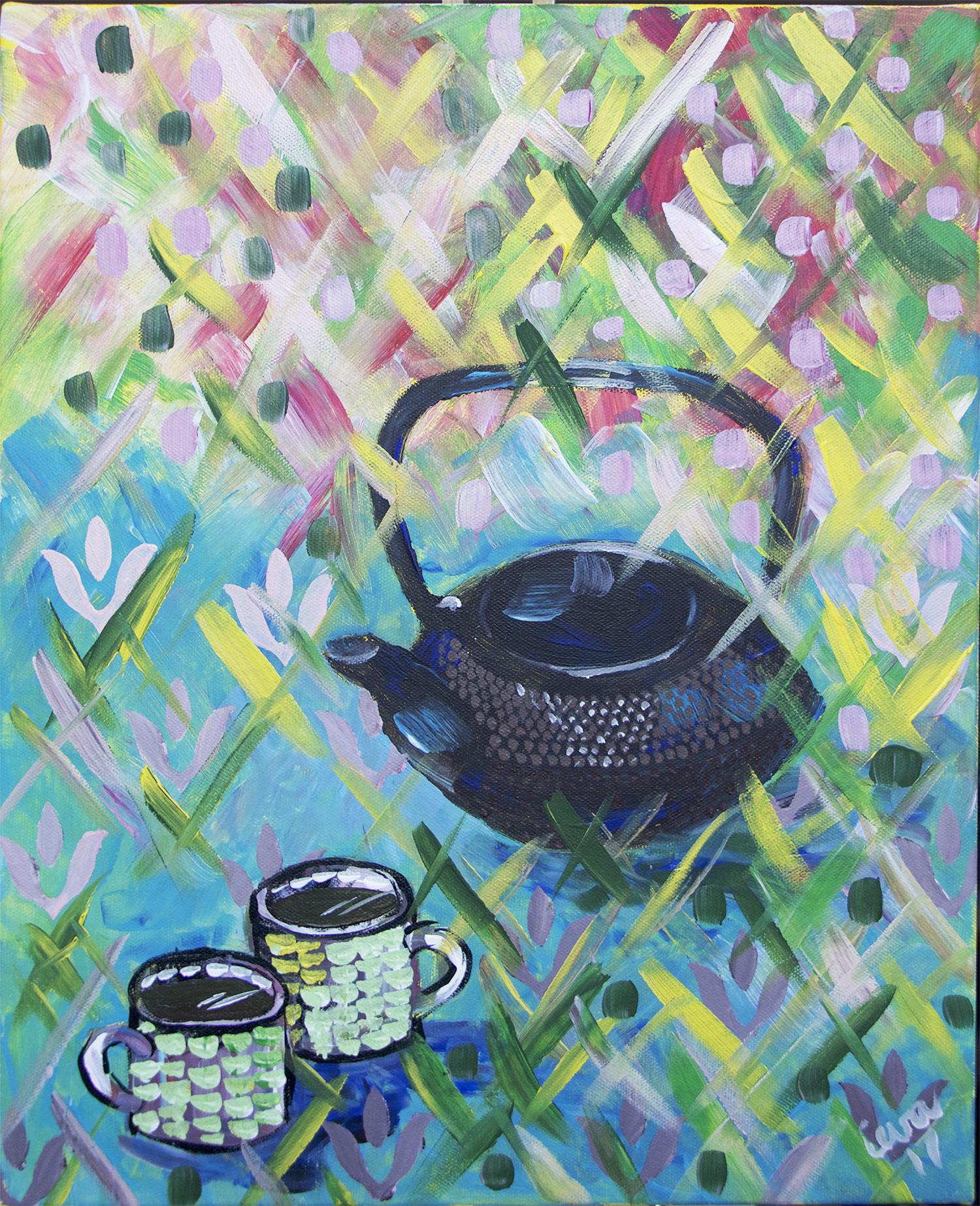 Tea time. Still life