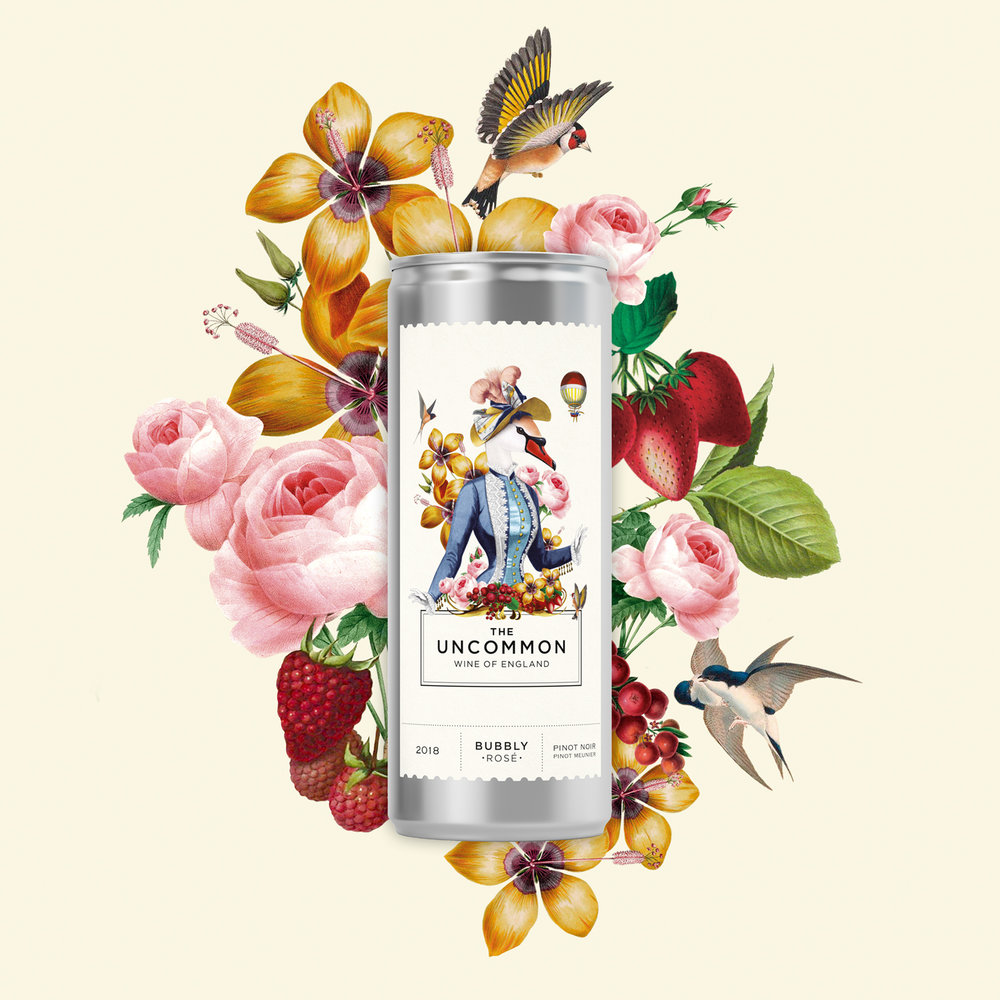 The Uncommon Wine of England - Mix Gift Box x 4 - Free ShippingA combination of fabulous 2018 bubbly white and rosé wines in a can.Pairs perfectly with a jolly good chinwag.Only Available For Retail Customers