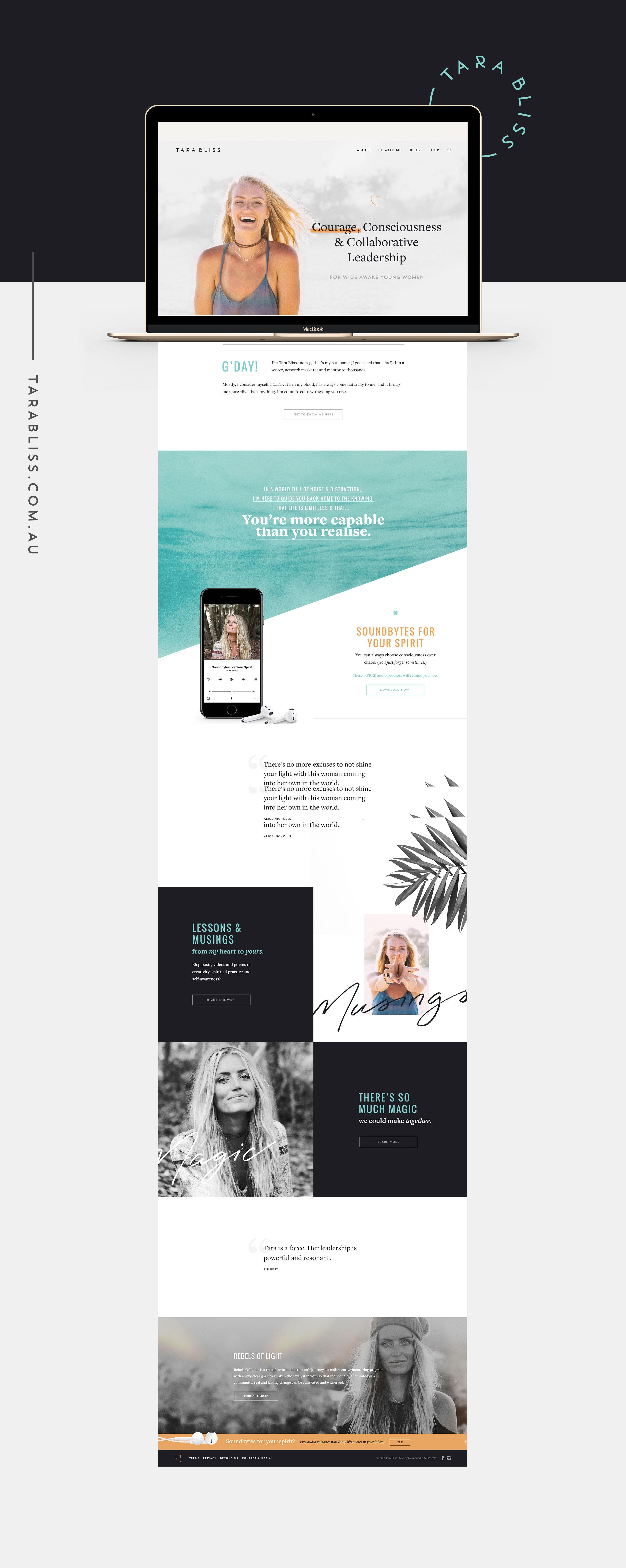 Tara Bliss - Graphic Design by Neverland Studio