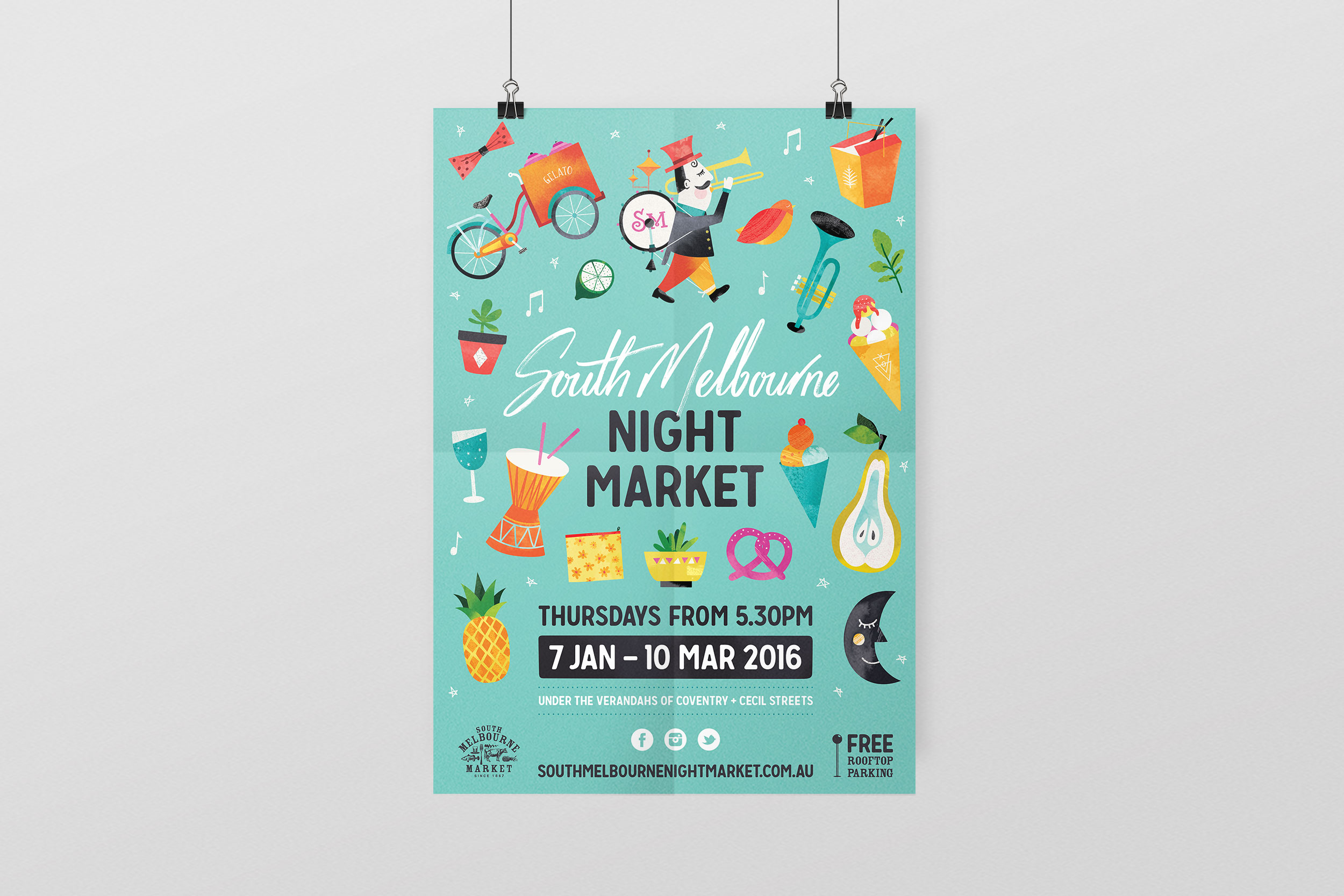 South Melbourne Night Market - Graphic Design by Neverland Studio