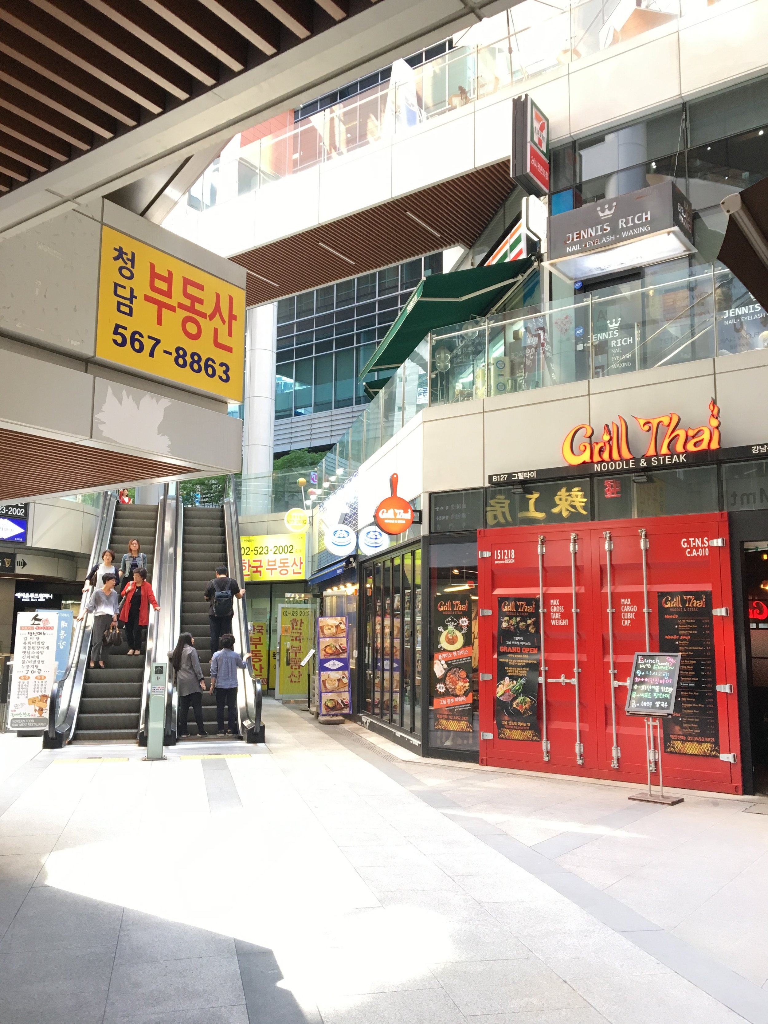 6. You will see escalator, then take a right at grill thai - Then you will see elevator.