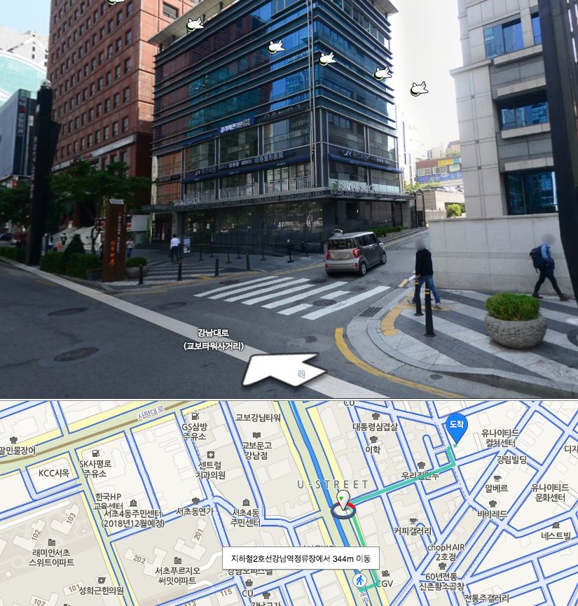 3. take a right turn at shake shack burger! - From here about 3 mins.
