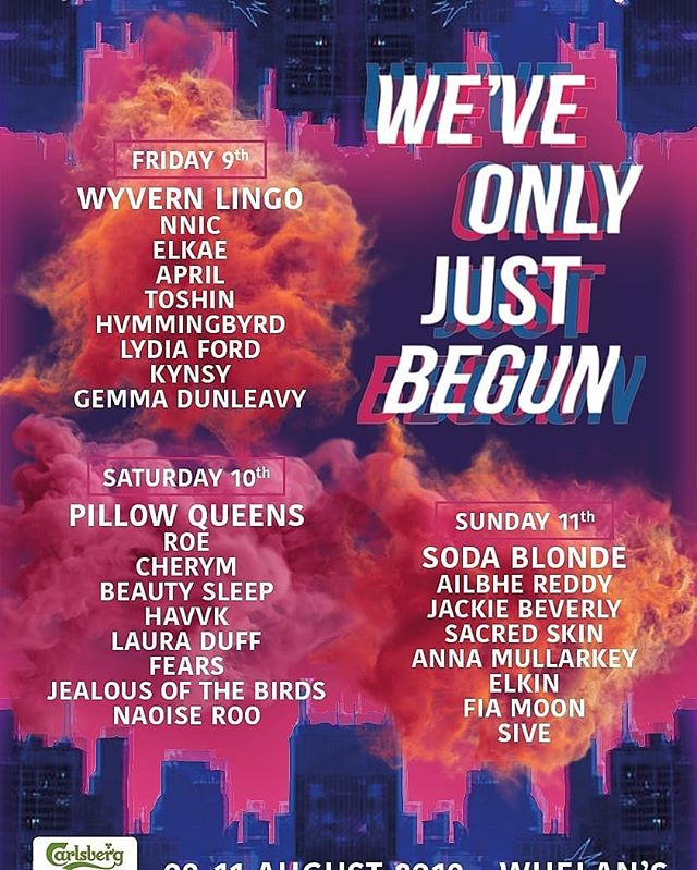 Delighted to emerge from our cocoon for what's looking to be a pretty special festival ❤️ We'll be playing Friday August 9th upstairs in Whelans at @weveonlyjustbegunfest! Early bird tickets per night (€10) and full weekend tickets (€20) are available on wavtickets.ie.