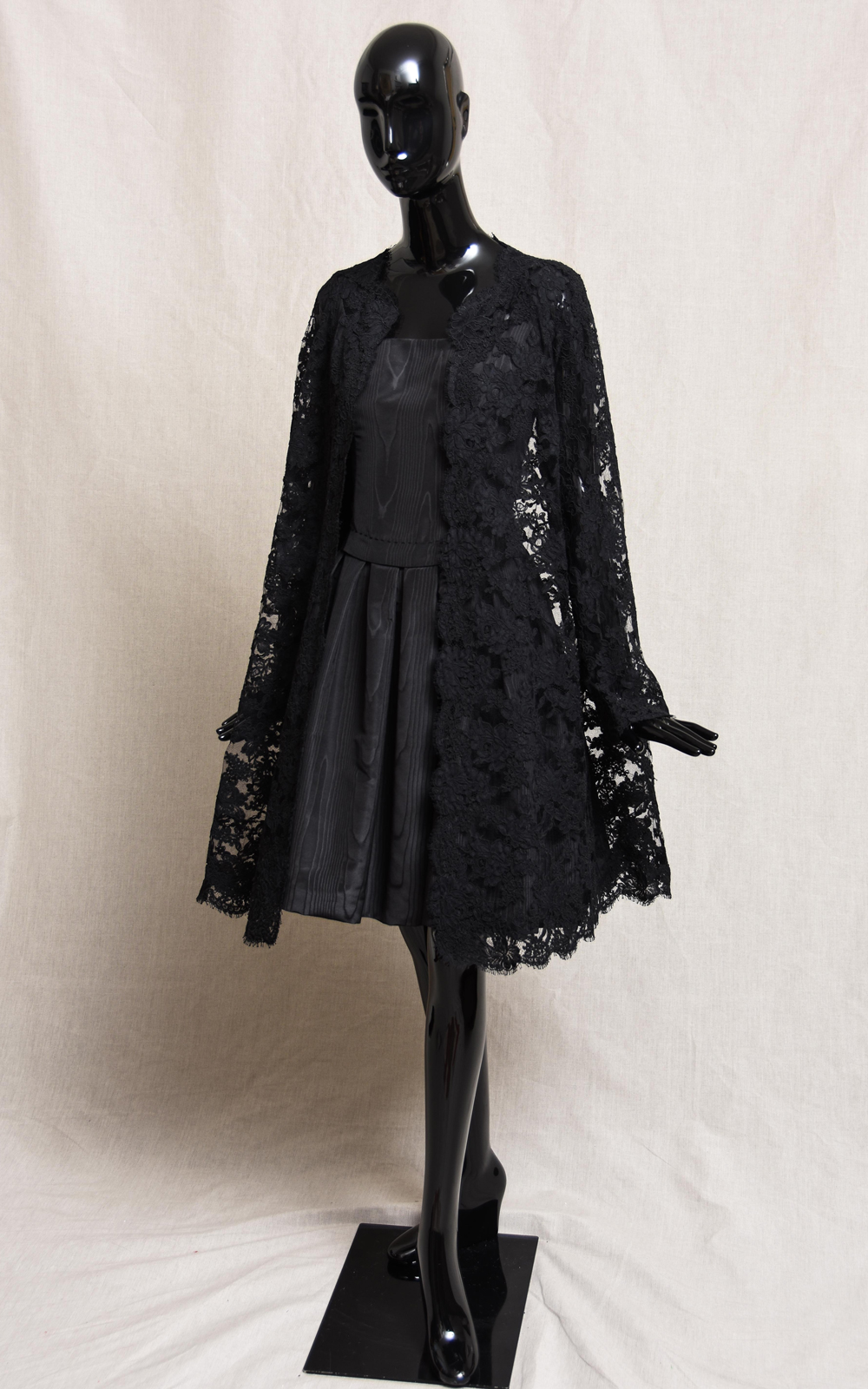 FRANKIE dress & DEMI lace coat