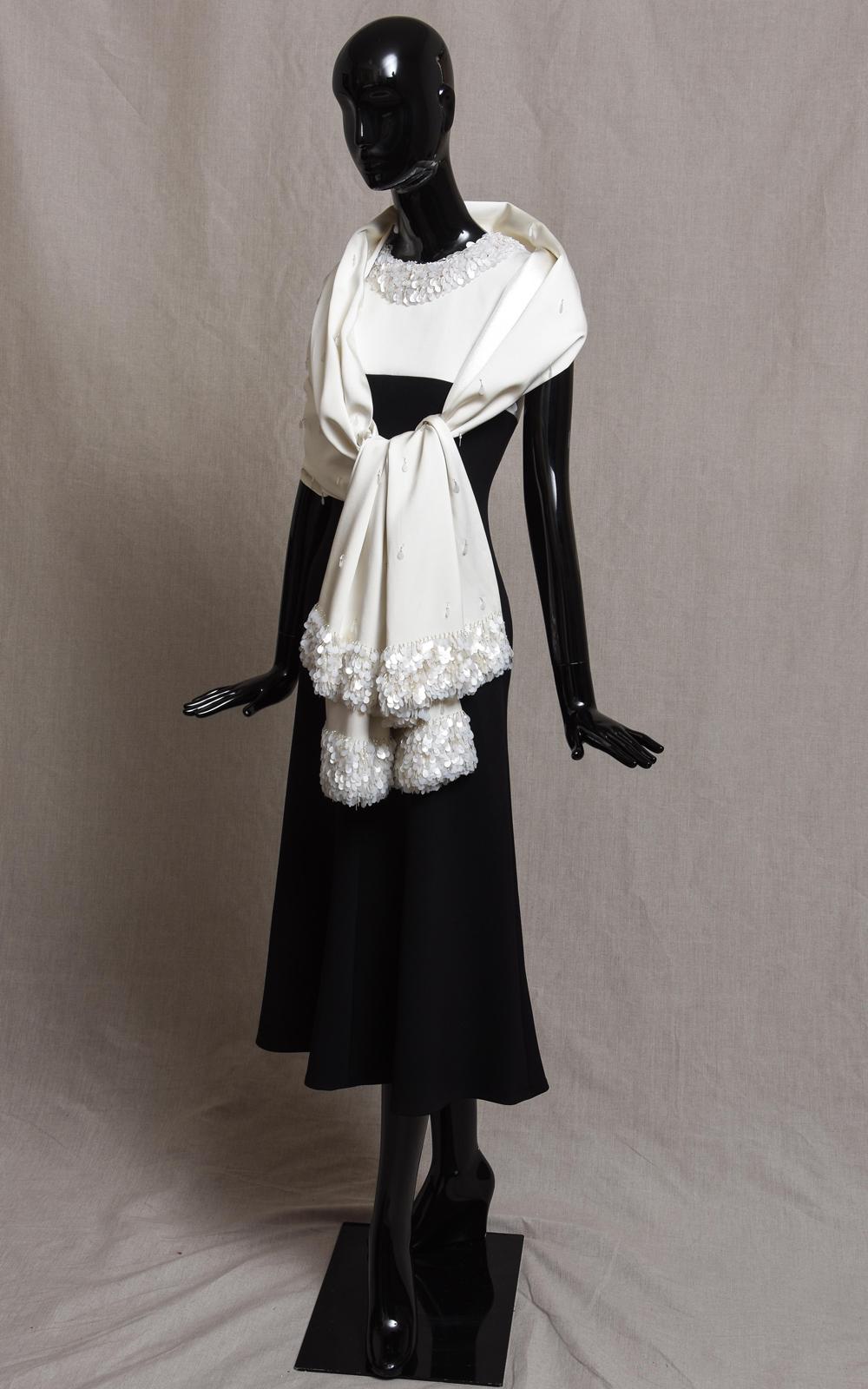 DUSTY dress & TASSEL stole